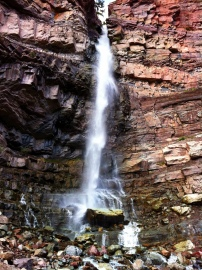 The waterfall in Ouray.