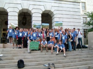 My friends and I at a rally against drilling in ANWR in Washington, DC in 2005.